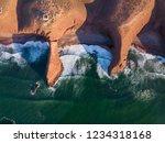 aerial top view on legzira... | Shutterstock . vector #1234318168