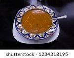 moroccan cuisine  carrot red... | Shutterstock . vector #1234318195