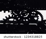 machinery shadow in factory.... | Shutterstock . vector #1234318825