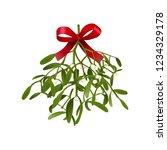 mistletoe. vector illustration...   Shutterstock .eps vector #1234329178