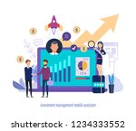 investment management mobile... | Shutterstock .eps vector #1234333552