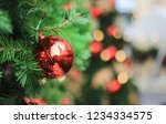 close up of a christmas bauble... | Shutterstock . vector #1234334575