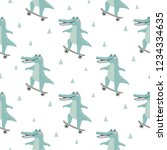 seamless pattern with cute... | Shutterstock .eps vector #1234334635