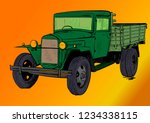 old lorry car | Shutterstock .eps vector #1234338115