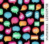 seamless pattern with speech... | Shutterstock .eps vector #1234339738