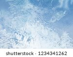 the texture of the ice. the... | Shutterstock . vector #1234341262
