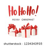 merry christmas card. ho ho ho... | Shutterstock .eps vector #1234343935