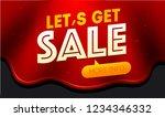 let's get sale banner design.... | Shutterstock .eps vector #1234346332
