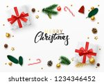 christmas greeting card. xmas... | Shutterstock .eps vector #1234346452