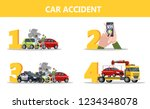 what to do after car accident... | Shutterstock .eps vector #1234348078