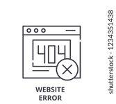 website error line icon concept....