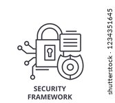 security framework line icon... | Shutterstock .eps vector #1234351645