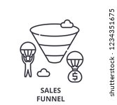 sales funnel line icon concept. ... | Shutterstock .eps vector #1234351675