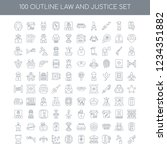 100 law and justice universal... | Shutterstock .eps vector #1234351882