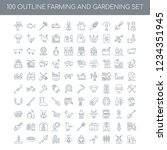 100 farming and gardening... | Shutterstock .eps vector #1234351945