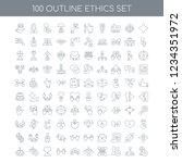 100 ethics universal icons set... | Shutterstock .eps vector #1234351972