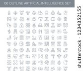100 artificial intelligence... | Shutterstock .eps vector #1234352155