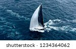sailing yacht under full sail... | Shutterstock . vector #1234364062
