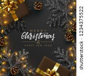 christmas banner. background... | Shutterstock .eps vector #1234375522