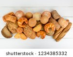 bread  buns  croissants and... | Shutterstock . vector #1234385332