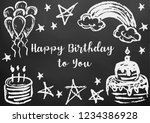 happy birthday to you. greeting ... | Shutterstock .eps vector #1234386928