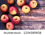 food background showing apples... | Shutterstock . vector #1234389838