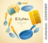 home appliances   objects in... | Shutterstock .eps vector #1234392805