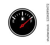 full fuel gauge silhouette icon.... | Shutterstock .eps vector #1234395472