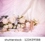 the beautiful bridal perfume... | Shutterstock . vector #123439588