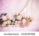 the beautiful bridal perfume... | Shutterstock . vector #123439588