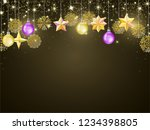 luxurious golden christmas and... | Shutterstock .eps vector #1234398805