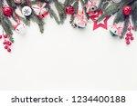 christmas decorative ornaments  | Shutterstock . vector #1234400188