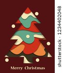 christmas tree. abstract... | Shutterstock .eps vector #1234402048