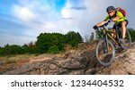 cyclist riding the bike on the... | Shutterstock . vector #1234404532
