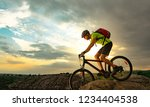 cyclist riding the bike on the... | Shutterstock . vector #1234404538