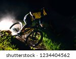 professional dh cyclist riding... | Shutterstock . vector #1234404562