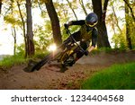 professional dh cyclist riding... | Shutterstock . vector #1234404568