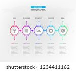 infograph 5 steps element.... | Shutterstock .eps vector #1234411162