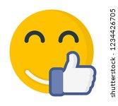 best of luck emoji | Shutterstock .eps vector #1234426705