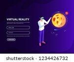 isometric man  woman in virtual ...   Shutterstock .eps vector #1234426732