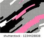 the memphis pattern. trending... | Shutterstock .eps vector #1234428838