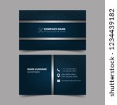 business card design template.  | Shutterstock .eps vector #1234439182
