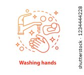 washing hands concept icon.... | Shutterstock .eps vector #1234444228