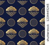 beautiful japanese seamless... | Shutterstock .eps vector #1234445245