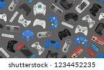 video game controller gamepad... | Shutterstock . vector #1234452235