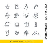 christmas related icons  ... | Shutterstock .eps vector #1234452565