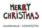 vector hand drawn doodle  funny ... | Shutterstock .eps vector #1234452742