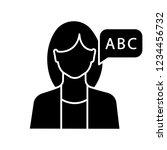 foreign language teacher glyph... | Shutterstock .eps vector #1234456732
