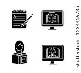foreign language learning glyph ... | Shutterstock .eps vector #1234456735