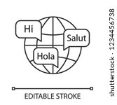 world languages linear icon.... | Shutterstock .eps vector #1234456738